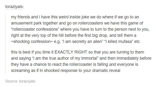 rollercoaster confessions