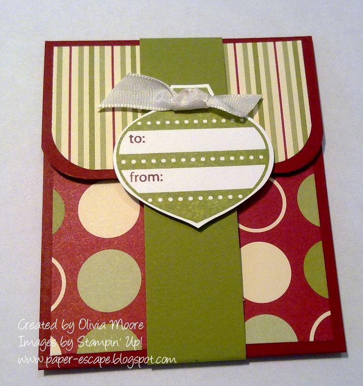 Paper Escape ~ Olivia Moore: Stampin'Up! Demonstrator Australia: Jolly Gift Card Holder