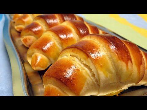 Croissants tipo brioche ou pão de leite - YouTube