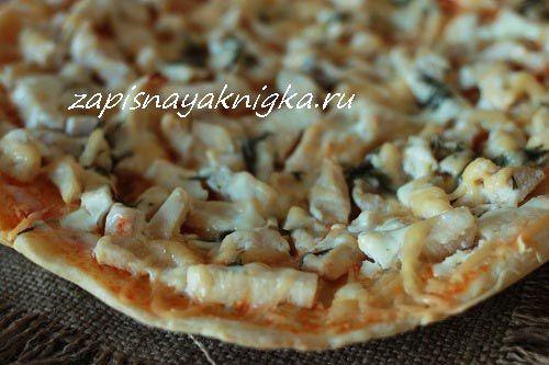 Пицца на кефире рецепт с фото