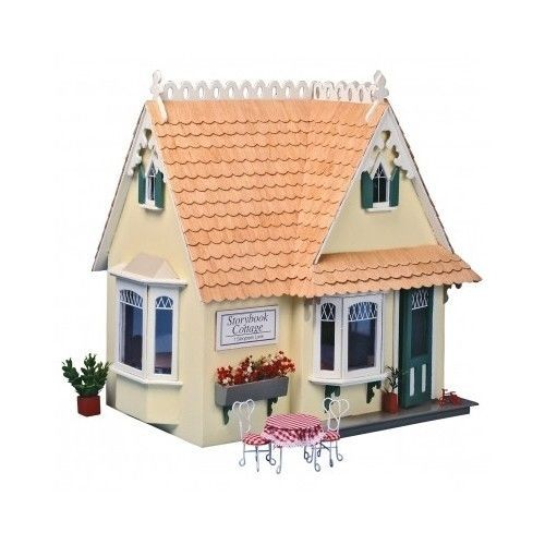 Cottage Dollhouse Kit Miniature Furniture Children Toys Playroom Christmas Gift