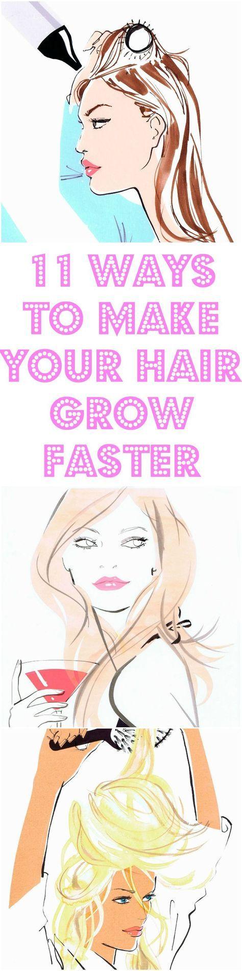 11 Ways To Make Your Hair Grow Faster #hair #hairtips #beauty #longhair