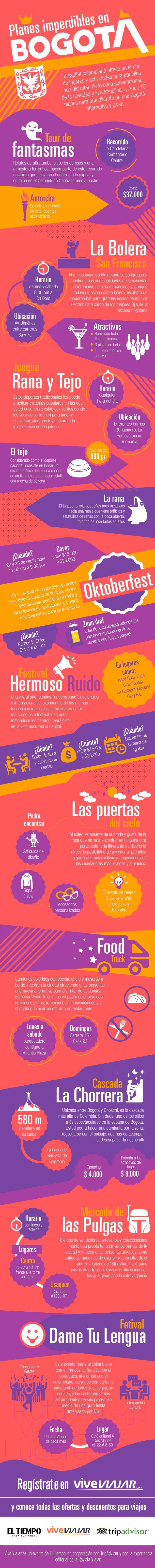 10 planes imperdibles en Bogotá