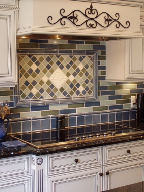 Make a framed backsplash to stick behind your stove area - Ideas for backsplash behind stove ...