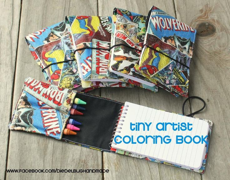 Looking for your next project? You're going to love Tiny Artist Coloring book crayon roll by designer Diedelbug. - via @Craftsy