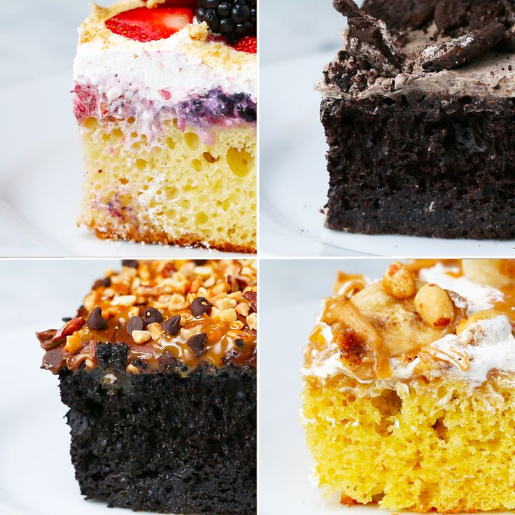 Easy Poke Cakes 4 Ways
