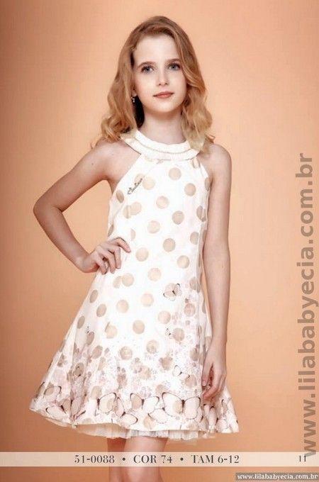 Vestido Infantil Miss Cake Moda Infantil Pérola 510088
