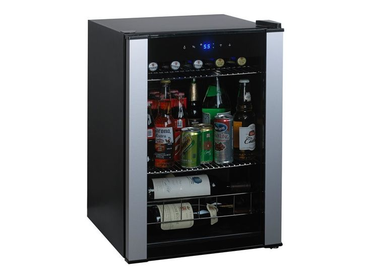 Best Top Rated Beverage Wine Beer Soda Water Refrigerator Chiller Cooler- Portable Corner Wall Kitchen Den Office Commercial 20 Bottle (Bordeaux) Capacity Two Shelves LED Lit Digital Control Panel * Remarkable product available now. : Small Appliances