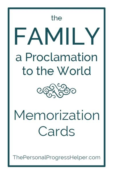 The Family: A Proclamation to the World Memorization Project for Personal Progress (scheduled via http://www.tailwindapp.com?utm_source=pinterest&utm_medium=twpin&utm_content=post6850654&utm_campaign=scheduler_attribution)