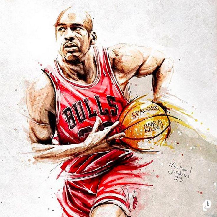 Michael Jordan x Chicago Bulls GOAT Painting