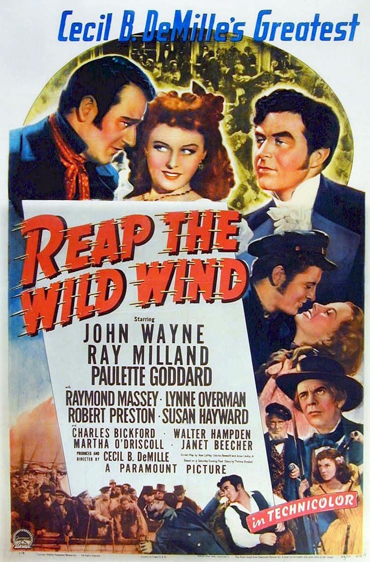 Reap The Wild Wind (1942) Starring John Wayne, Ray Milland & Paulette  Goddard