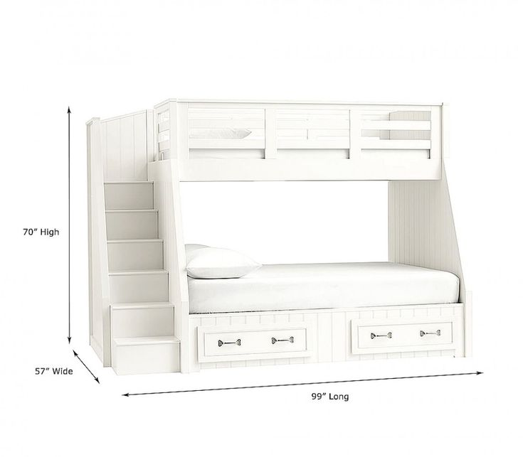 Belden Twin Over Full Stair Loft Bed Girlsroom Detsky