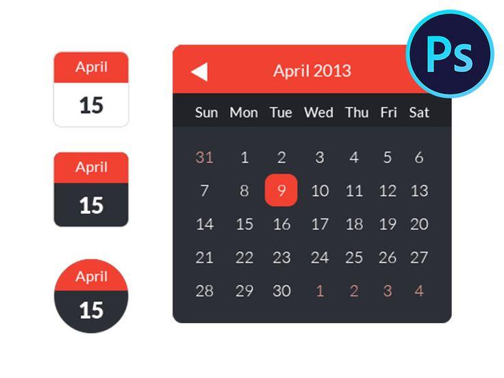 Download Calendar Ui Kit Freebies