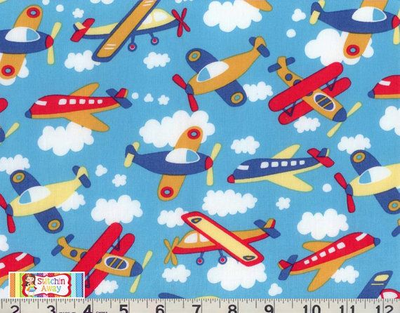 17 best images about baby quilt on pinterest boy toys for Childrens airplane fabric