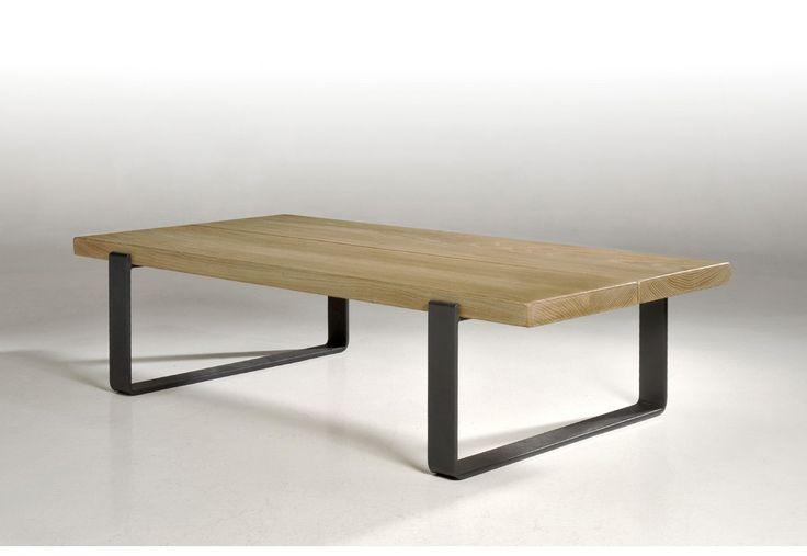 Table basse en chêne style Industriel fabrication Française