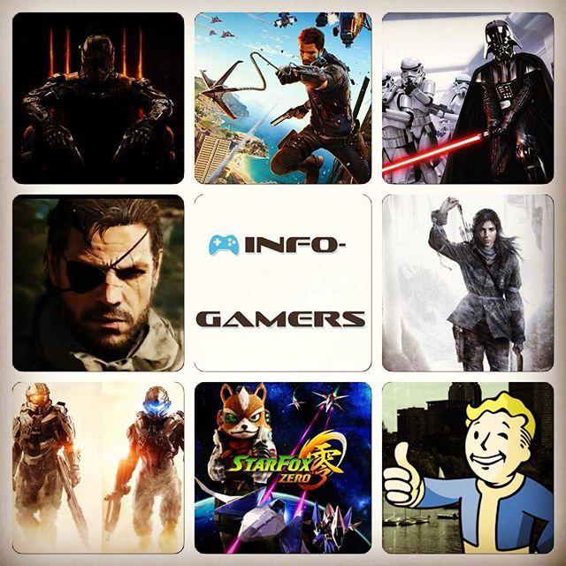 Cuál escoges? Sólo puedes jugar uno de esta imagen. #callofduty #justcause3 #StarWars #metalgear #MGSVTPP #tombraider #halo5 #starfoxzero #fallout4 #videojuegos #gaming #gamers #infogamers