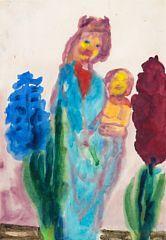 """866/709 - Emil Nolde: """"Madonnenfigur und Hyazinthen"""", 1950. Sign. Nolde. Akvarel…"""