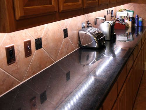 Under Counter LED Lighting.  Listed by NKBA as one of the top 5 kitchen design trends, and a great product that we started offering at http://www.ledundercounterlight.com