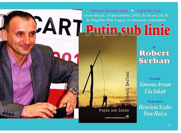 Robert Şerban îşi va lansa noul volum la English Pub Lugoj