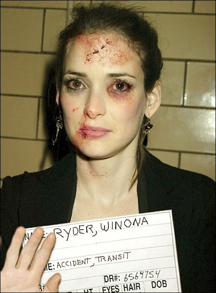 Mugshot Winona-dear god this is so awful. I don't know what the situation was but I just want to hug her. Hoping it wasn't real.