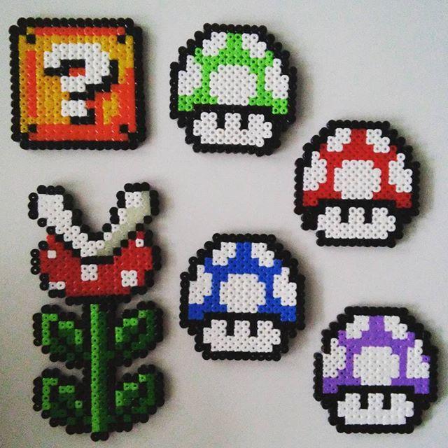 Super Mario hama beads by _mirajohanna_