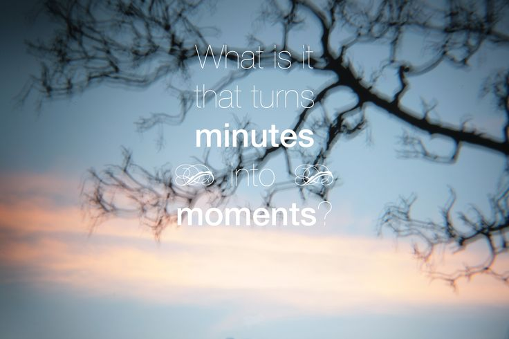 Moments ~ keeping pace with life...