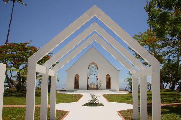 The beautiful Seaside Chapel at Shangri-La's Fijian Resort