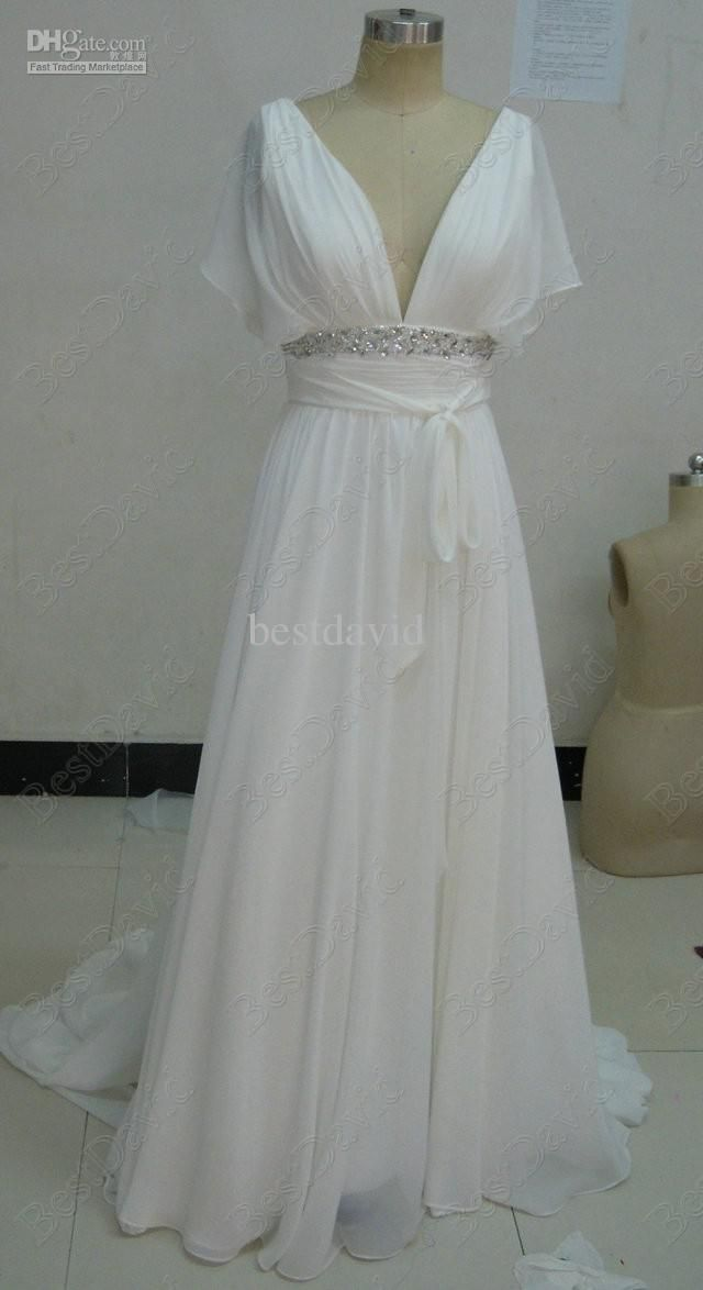 De 25 bedste id er inden for bling wedding dresses p for Wedding dresses casual beach