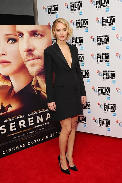 In Christian Dior at the premiere of Serena at the London Film Festival. See all of Jennifer Lawrence's best looks