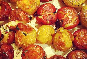 Smashed Potatoes with Garlic and Herbs Recipe - Oprah.com