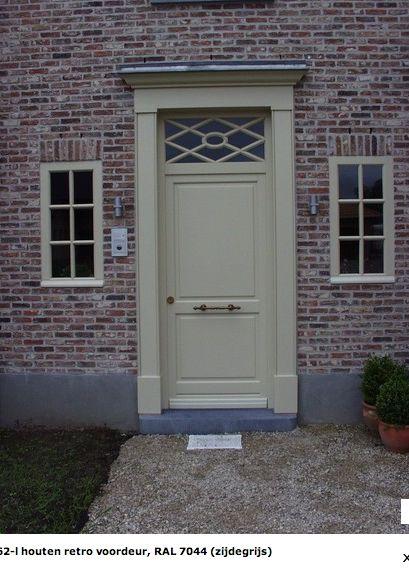 RAL 7044 SILK GREY front door