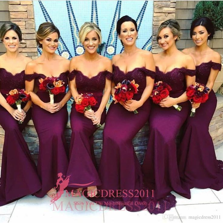 Gorgeous Arabic Burgundy Lace Bridesmaid Dresses 2016 Mermaid Off-Shoulder Ruffled Vintage Garden Wedding Guest Maid of Honor Dress New Bridesmaid Dresses Cheap Bridesmaid Dresses Long Maid of Honor Dress Online with 106.0/Piece on Magicdress2011's Store | DHgate.com