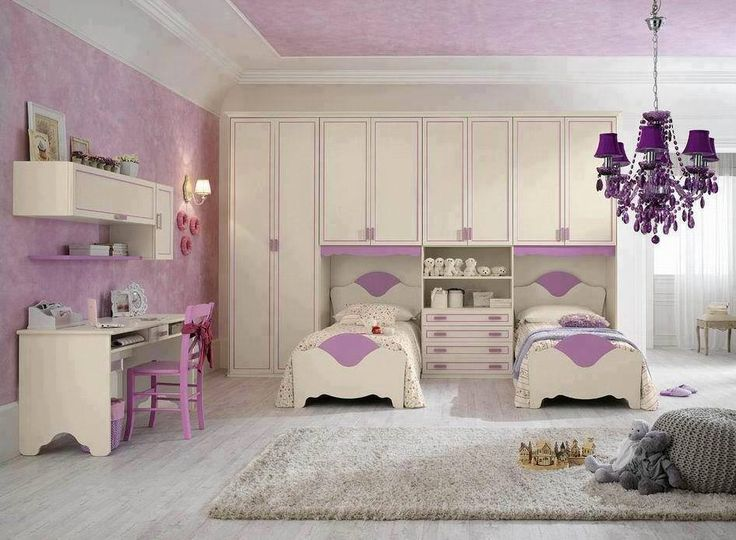 Dětský pokoj * pro holčičky - fialovo bílý.