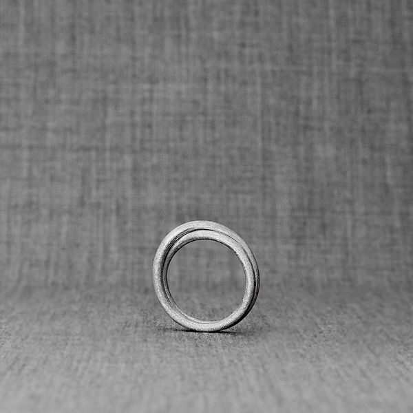 Infinity Ring - eternal perfection captured into circles of infinity. Beautiful handcrafted ring, true contemporary gem