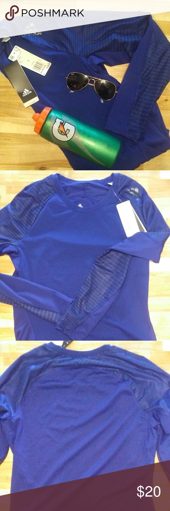 BRAND NEW ADIDAS ASK SPORTS LONG SLEEVE TOP! ADIDAS ASK SPORT PERFORMANCE TOP! BRAND NEW!!!  size: large Color: blue  *performance sports top *long sl…