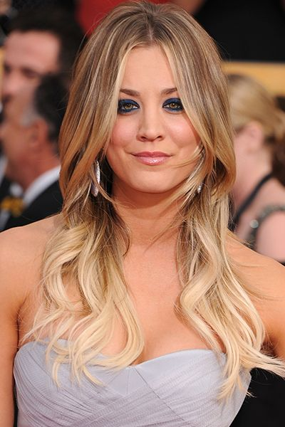Kaley Cuoco long blonde hair