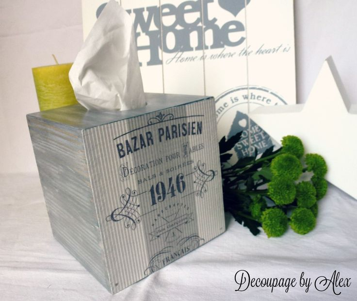 Decoupage napkin box