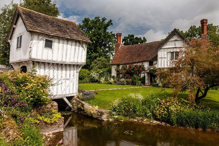 The moated manor house on the Brockhampton Estate in Herefordshire.