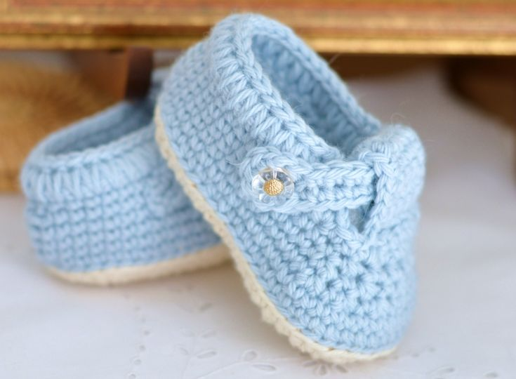 Classic T-Bar Baby Shoes Crochet Pattern