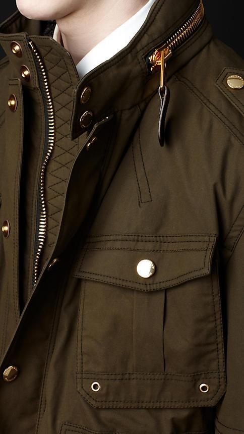 Burberry - Waxed cotton field jacket