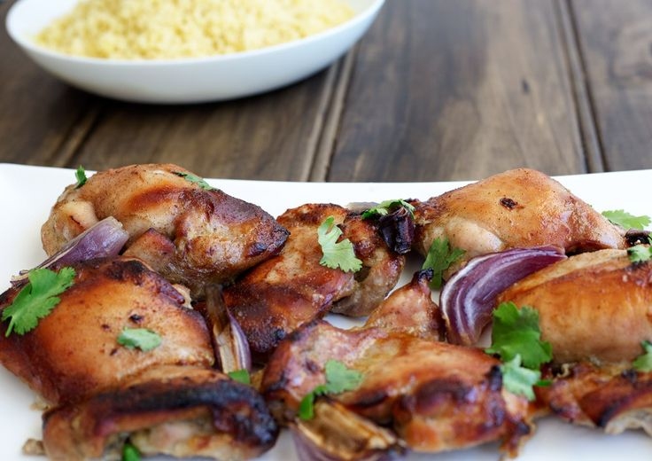 Baked Cardamom Honey Chicken with Buttered Couscous