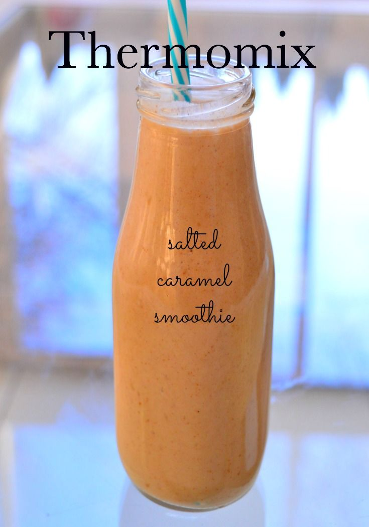 Thermomix Salted Caramel Smoothie. Naturally sweetened and dairy free.