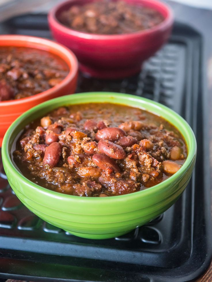Pressure Cooker Quick Chili with Canned Beans recipe. What's the quickest way to get dinner on the table? Pressure cooker chili, of course.