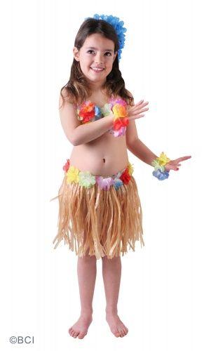 Costume Hawai Bambina: grazie a questo delizioso travestimento hawaiano per bambina, anche le più piccole potranno lanciarsi nella Hula!