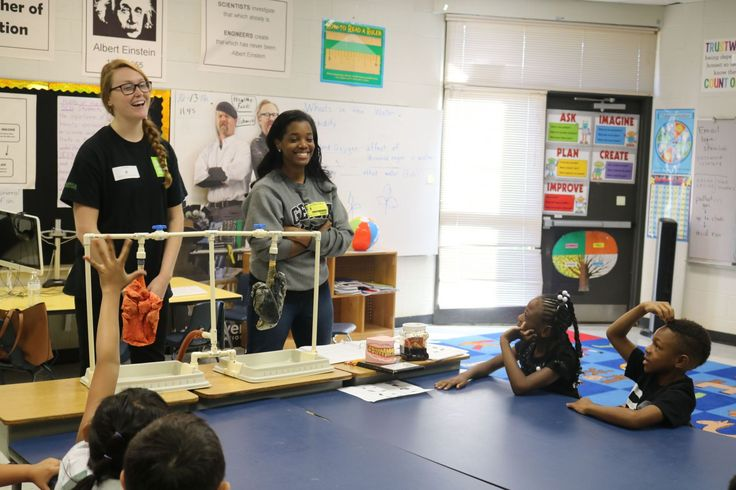 Students from the University of West Georgia's Tanner Health System School of Nursing joined Get Healthy, Live Well staff at Carrollton Elementary School on Monday, Oct. 17, to teach students in the science, technology, engineering and math (STEM) program how to make healthy choices.