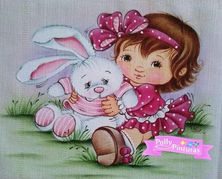 Pintura em tecido para bebês   fraldas   para meninas   salvo de polly pinturas Facebook