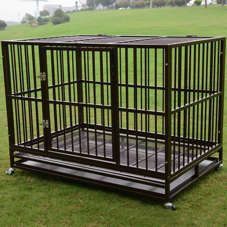 """3XL 48"""" Dog Crate Kennel Heavy Duty Pet Cage Playpen w/ Metal Tray Exercise Pan in Pet Supplies, Dog Supplies, Cages & Crates 