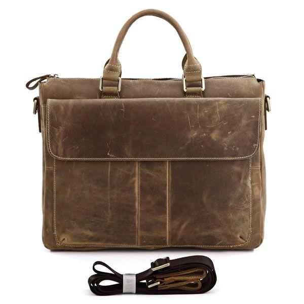 """Vintage Leather Briefcase / Messenger / 14"""" 15"""" Laptop 13"""" 15"""" MacBook Bag"""