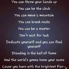 fav song-- Hall of Fame-- lyrics