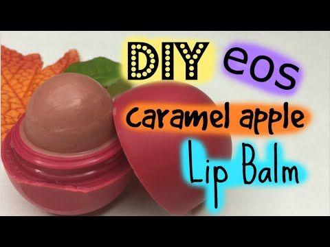 DIY EOS caramel apple Lip Balm - YouTube
